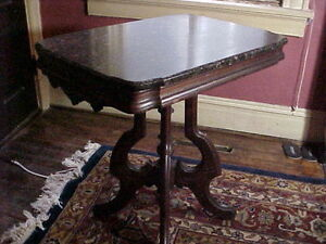 Exceptional American Victorian Marble Top Table C 1870