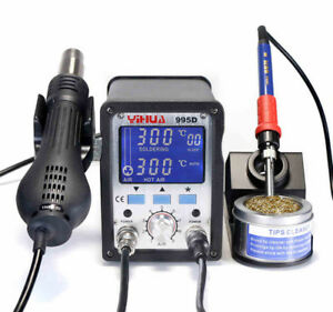 2 In 1 Yihua 995d Soldering Station Used For Motherboard Repair Tools 210v 240v