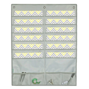 Hanging Wall File 12 Pocket Chart Storage Organizer Home Office Bills Mail Cra