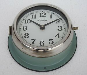 Vintage 1980 S Original Slave Clock Nautical Marine Time Ship Kappa Quartz Korea