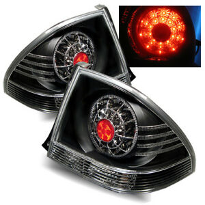 For 01 05 Lexus Is300 Black Lh rh Led Tail Lights Rear Brake Lamps Replacement