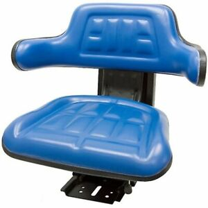 Blue Ford New Holland 3300 3910 3930 6000 7610 Waffle Tractor Suspension Seat
