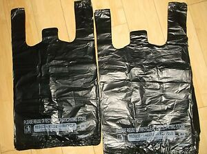 800 Ct Plastic Shopping Bags t Shirt Type Grocery Black Medium 1 8 Size Bags