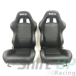 Sparco Racing Street R100 Seats Vinyl Black 00961nrsky Pair