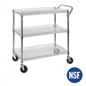 Serving Cart Heavy Duty Utility Metal Hand Truck Nsf Industrial Commercial Dolly