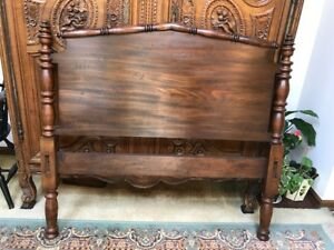 Antique Twin 3 4 Bed Walnut