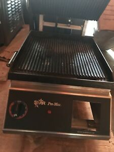 Star Pro max panini Grill 14 x14 Fixed Lower Grill Cg14ib Great Condition