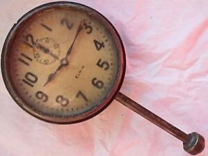 Elgin Vintage Old Car Clock 82 Mm In Diameter And Other For Parts