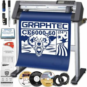 24 Graphtec Ce6000 60 Plus Vinyl Cutter Plotter Includes Free Stand St0100 New