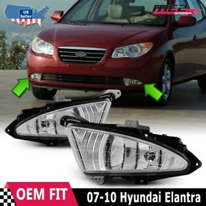 For Hyundai Elantra 07 10 Factory Replacement Fit Fog Lights Kit Clear Lens
