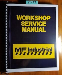 Massey Ferguson Mf50 Mf50a Tractor Backhoe Loader Workshop Service Manual 6 72