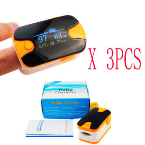 Usa 3pcs Oled Blood Oxygen Monitor Spo2 Pr Fingertip Pulse Oximeter Fda Ce