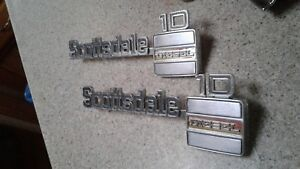 1973 80 Chevy Truck Parts Scottsdale10 Emblems Badges Trim Original Oem Vintage
