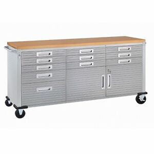 Hobby Box Handy Man Truck Box 6 Stainless Steel Rolling Workbench Top Toolbox