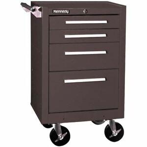Kennedy 21040b 4 Drawer Roller Cabinet With Tubular High Security Lock brown Wri