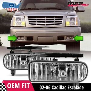 For Cadillac Escalade 02 06 Factory Bumper Replacement Fit Fog Light Clear Lens