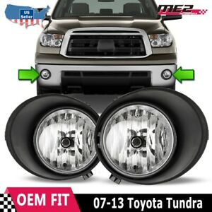 For Toyota Tundra 07 13 Oe Style Bumper Replacement Fit Fog Lights Clear Lens