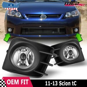 For Scion Tc 11 13 Factory Bumper Replacement Fit Fog Lights Dot Clear Lens