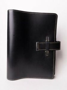 Franklin Covey Black Leather Classic Binder Planner