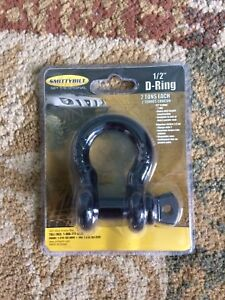 Smittybilt 1 2 Inch D Ring Shackle Black Fits 4 Wheeler Gator Winch Recovery
