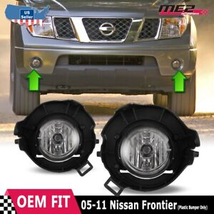 For Nissan Frontier 05 09 Factory Bumper Replacement Fit Fog Lights Clear Lens