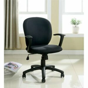 Bowery Hill Upholstered Office Chair In Black