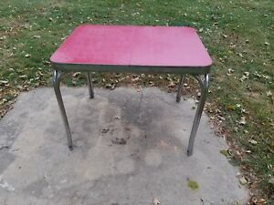 Vintage Formica Red Kitchen Table Mid Century Antique 1950s Maysville Kentucky