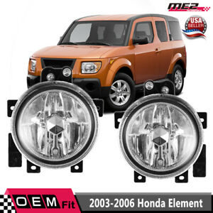 For Honda Element 03 06 Factory Replacement Fog Lights Wiring Kit Clear Lens