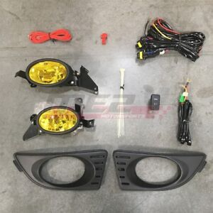 For Acura Rsx 05 07 Factory Replacement Fit Fog Lights Wiring Kit Yellow Lens