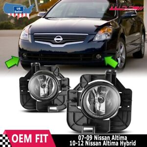 For Nissan Altima 07 09 Factory Replacement Fog Lights Wiring Kit Clear Lens