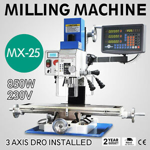 Vertical Bench Top Milling Machine Aluminum Scale Chain Wire Skilled Craftsman