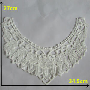 White Lace Collar Craft Sewing Embroidery Applique Accessory Neckline Yl14