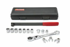 89000 15 Pc Serpentine Belt Tool Set With Locking Flex Head Ratcheting Wrench