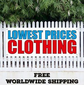 Banner Vinyl Lowest Prices Clothing Advertising Sign Flag Sale learance