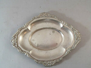 Vintage Reed And Barton Silver Soldered Tip Tray Hotel Touraine Boston Ma