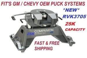 25k B w Companion 5th Wheel Rv Hitch For Gm Truck Oem Puck System Only Rvk3705
