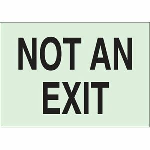 Brady 80250 Glow in the dark Exit And Directional Sign pack Of 10 Pcs