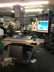 Bridgeport Cnc 4th Axis Mill Upgraded To Mach4