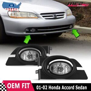For Honda Accord 98 02 Factory Replacement Fit Fog Lights Wiring Kit Clear Lens