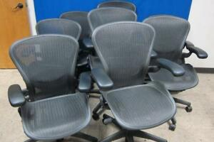 Lot 8 Herman Miller Aeron Mesh Office Chair Medium B Fully Adjustable Ergonomic