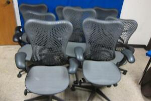 Lot Of 8 Herman Miller Mirra 2 Home Office Chair Cappuccino