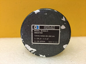 Hp 00103a 21 800 To 2000 Khz L 100 Uh C 6 Pf Q 200 Inductor Q Standard