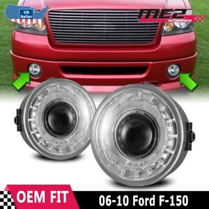 For Ford F 150 06 10 Factory Replacement Halo Projector Fog Lights Clear Lens