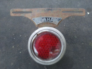 Vintage Rear License Plate Holder Light Used