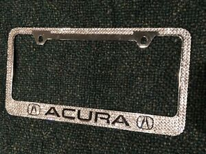 Acura Name Initial Custom Bling Crystal License Plate M w Swarovski Elements
