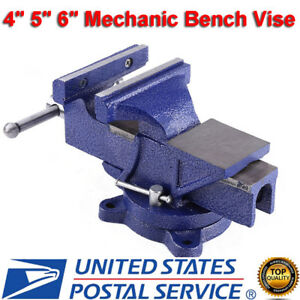 4 5 6 Mechanic Bench Vise Table Top Clamp Press Locking Swive Base Heavy Duty