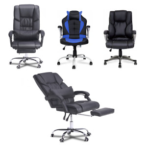 New Gaming Chair Leather Racing Office Executive Ergonomic Computer Desk Racing