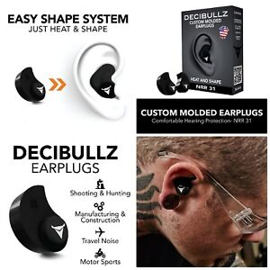 Custom Molded Ear Plugs Hearing Protection For Shooting Travel Sleep Swimming