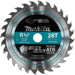 Makita A 99960 6 1 2 28t Carbide tipped Cordless Plunge Cut Track Saw Blade New