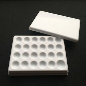10pcs Dental Lab Porcelain Mixing Watering Plate Wet Tray Glaze 24 Pits Plastic
